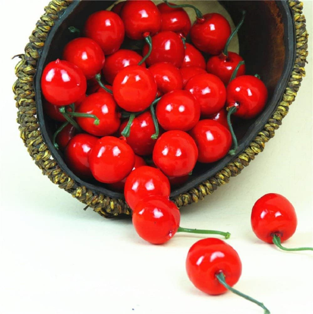 ShineBear Hot 20 pcs Artificial Fake Cherry Fruit Food Wedding Party House Kitchen Decorative Decoration Valentine's Day