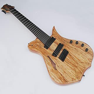8 String Electric Guitar Fanned Fret With Semi-Hollow Body