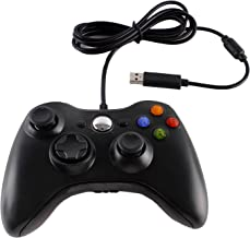 Mix-Play USB Wired Controller for Xbox 360 Console and PC - Black