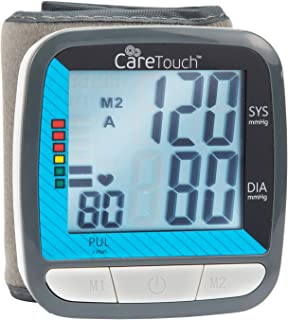Care Touch Blood Pressure Cuff Monitor - Automatic Wrist Classic Edition - Fast Accurate Readings and