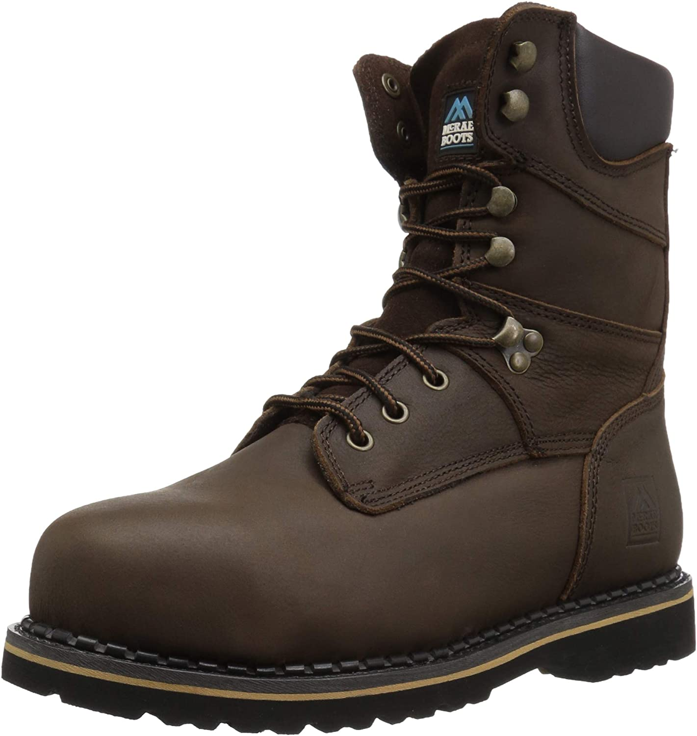 Mcrae Mr88344 Men's Full Grain Leather Work Boot M8 Brown UK -7M