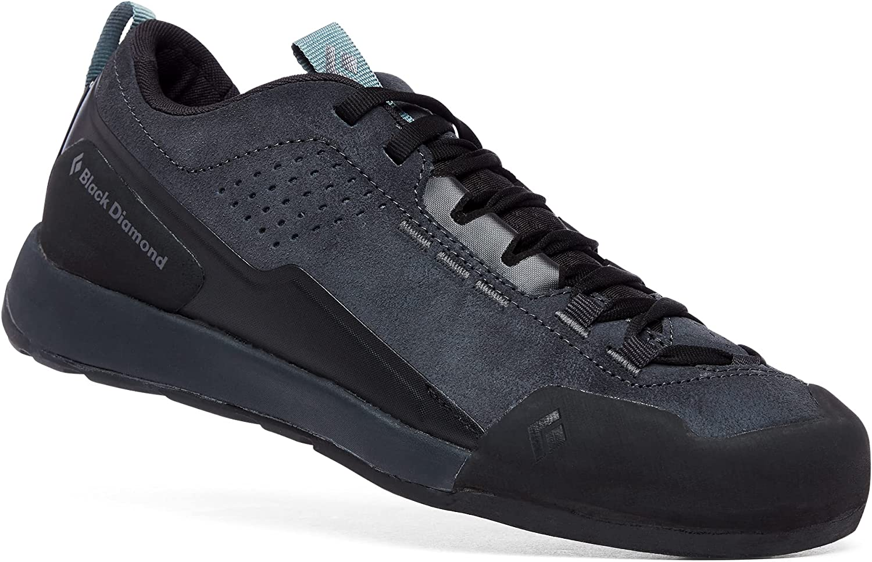 Black Diamond Equipment - Women's Technician Leather Approach Shoes - Asphalt/Goblin Blue - Size 9