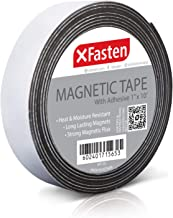 XFasten Premium Flexible Magnetic Tape with Adhesive, 1 Inch x 10 Feet, Strong Magnetic..