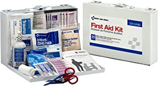First Aid Only 25 Person First Aid Kit, Metal Case, 106 Pieces