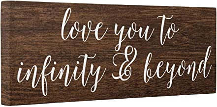 Love You To Infinity And Beyond Faux Wood CANVAS Wall Art