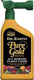 Dr. Earth Pure Gold All Purpose Liquid Fertilizer 32 oz RTS