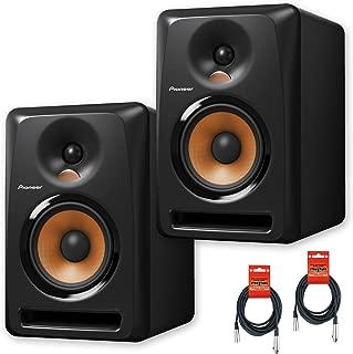 Pioneer DJ Bulit8 Active Reference 8-Inch Monitors - Black - Pair w/ 20ft XLR Cables - Bundle