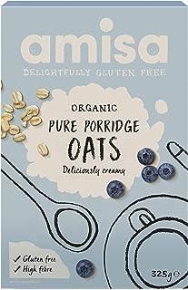 Amisa Organic Gluten Free Pure Porridge Oats, 325 g