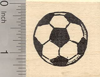 soccer rubber stamps