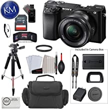 $698 » Sony Alpha a6100 Mirrorless Digital Camera with 16-50mm Lens + 32 GB Card + 50 Inch Tripod + Cleaning Kit + Gadget Bag