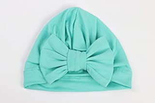 Nursery Turban Hat Cap Beanie Bonnet with Knot Bow for Newborns Baby Girls Toddlers Infants