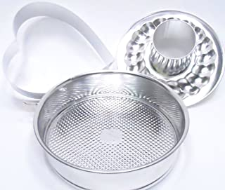 Pampered Chef 4 Piece Valintines Heart Springform Pan Set