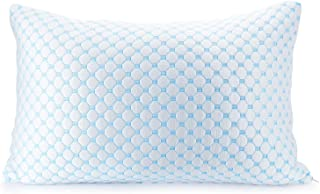 Clara Clark Gel Infused Pillow Reversible Multi-Use Cool to Velvety, Queen Size, White