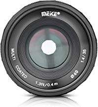 MEIKE 35mm F/1.4 Manual Focus Large Aperture Lens Compatible with Fujifilm Mirrorless Camera Such as X-T1 X-T2 X-T3