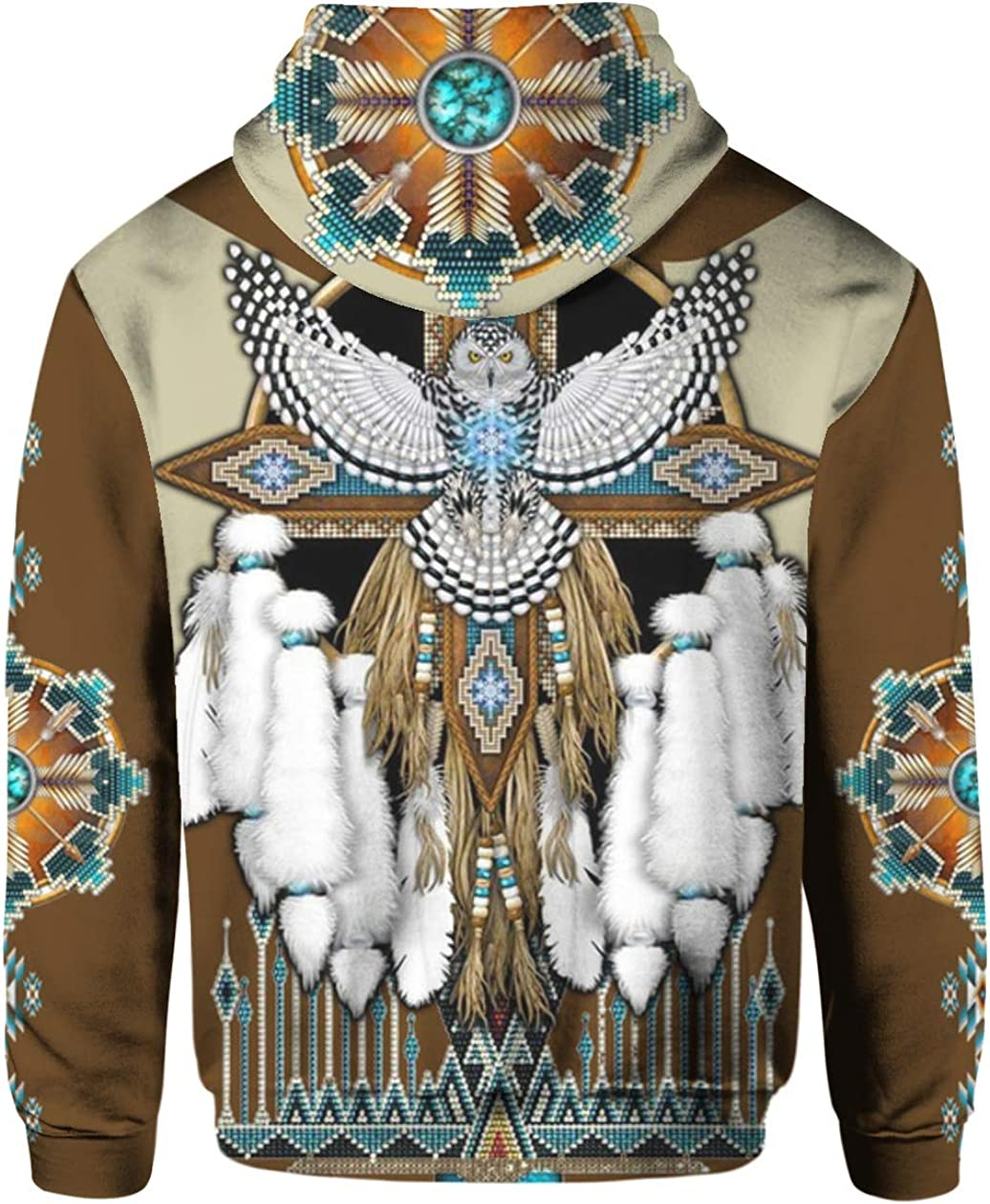 Brown American Native 3D All Over Sublimation Printed