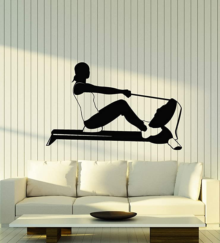 Vinyl Wall Decal Gym Rowing Sports Girl Fitness Healthy Lifestyle Stickers Mural (g204)