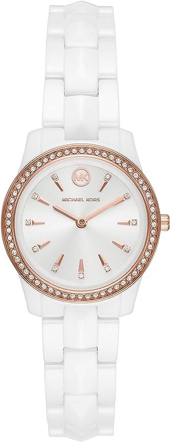 Michael Kors Reloj Analógico para Señoras de Cuarzo con Correa en Cerámica MK6840