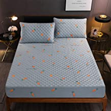 Mattress Cover,Thicken Pure Cotton Bed Sheet Protective Case Soft Breathable Fabric Reactive Printing and Dyeing,Do Not Fade