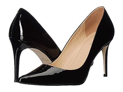 Massimo Matteo 90 mm Pointy Toe Pump (Black Patent) Women
