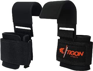 Tigon Sports Power Weight Lifting Training Gym Straps Hook bar Wrist Support Lift Gloves Grip