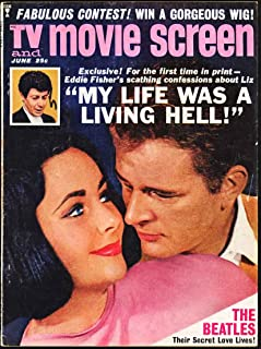 TV and Movie Screen Magazine; June 1964 (Elizabeth Taylor cover - The Beatles Secret Love Lives feature)