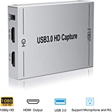 HDMI Game Capture Card, Ansten USB3.0 Video Capture with HDMI Loop-Out Support Full HD 1080P 60HZ Mic in and Audio Out, Compatible Windows Linux YouTube OBS OS X Twitch for PS3 PS4 Xbox One Xbox 360