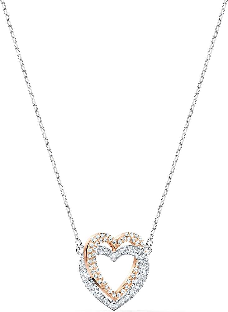 Swarovski collana per donna infinity double heart 5518868