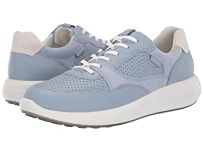 ECCO Soft 7 Runner Sneaker (Dusty Blue/Dusty Blue/Shadow White) Women