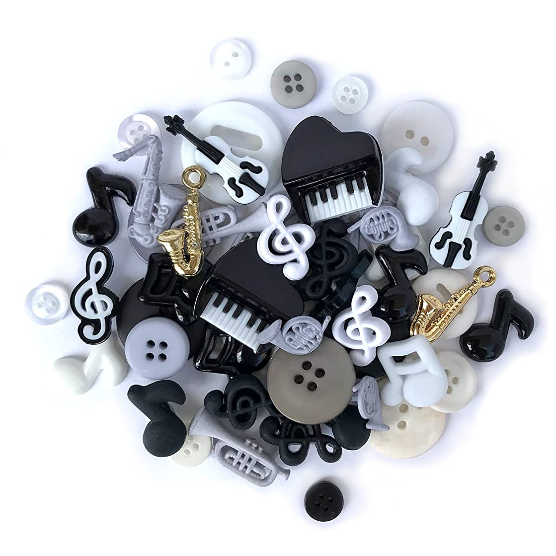 Buttons Galore 50 Piece Button Value Pack - Music