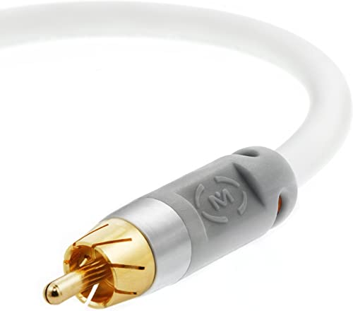 Mediabridge Ultra Series Digital Audio Coaxial Cable (4 Feet) - Dual Shielded with RCA to RCA Gold-Plated Connectors ...