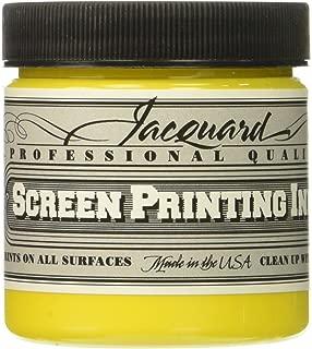 Jacquard JAC-JSI1124 Screen Printing Ink, 4 oz, Opaque Yellow