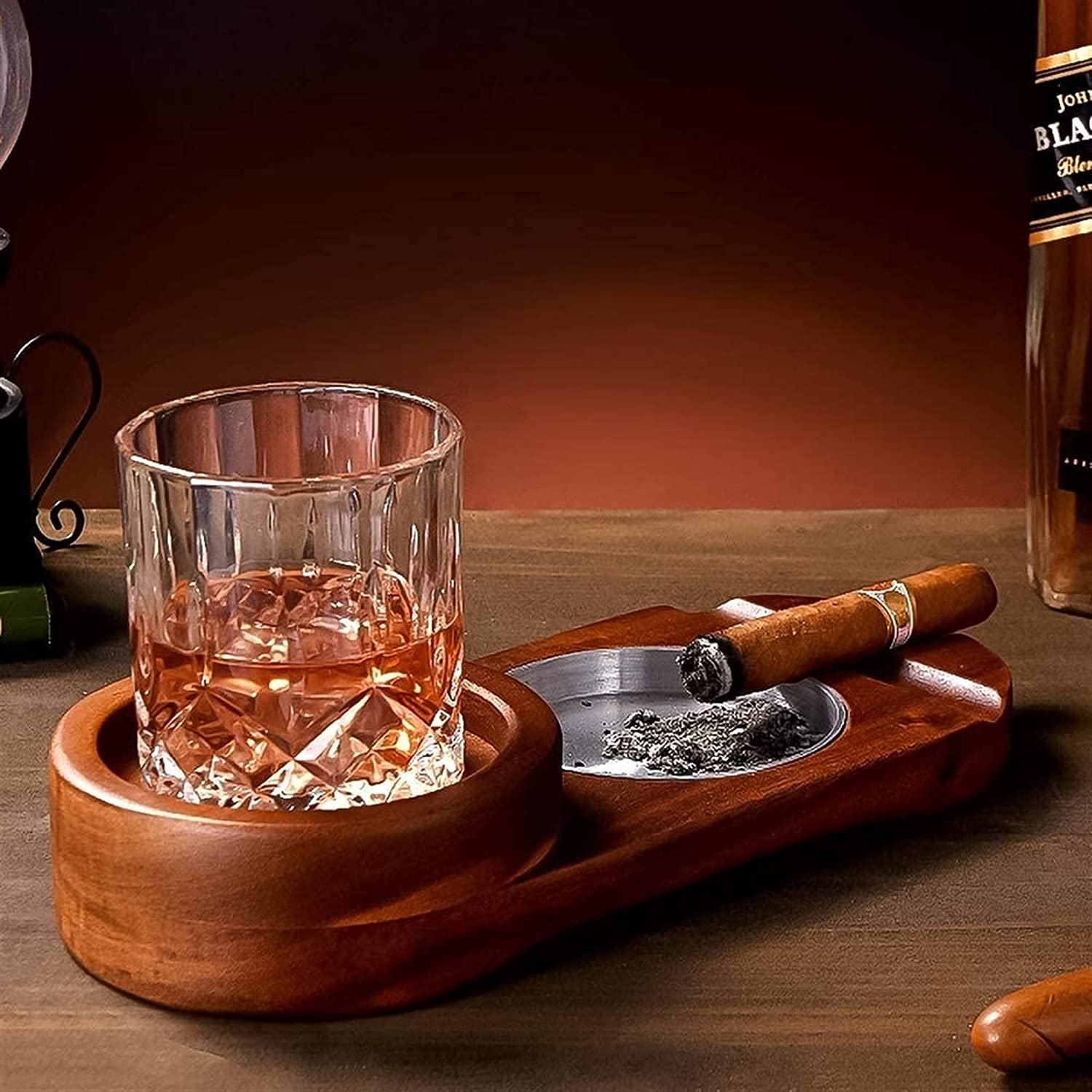 UOPW Cigar Ashtray Coaster Super sale period limited Whiskey Holder Tray and Sale item Glass