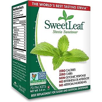 Wisdom Natural, SweetLeaf, Natural Stevia Sweetner, 2.5 oz (70 Packets)