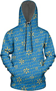 ZTUO Walmart-Classic-Text-Credit-Card-Coupons 3D Printed Mens Hoodie Loose-Fit Thick Hooded Sweatshirt