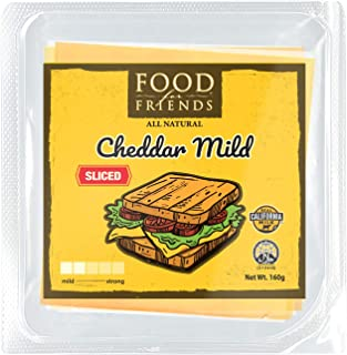 Food for Friends Cheddar Mild Sliced Cheese, 160g, 1 Count