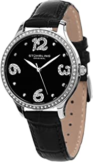 Stuhrling Original Women's 560.02 Symphony Quartz Leather Strap Watch