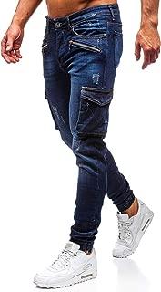 NUOVA linea uomo Peviani slim dritto Regular Fit Casual Pantaloni Chino Pantaloni Nero