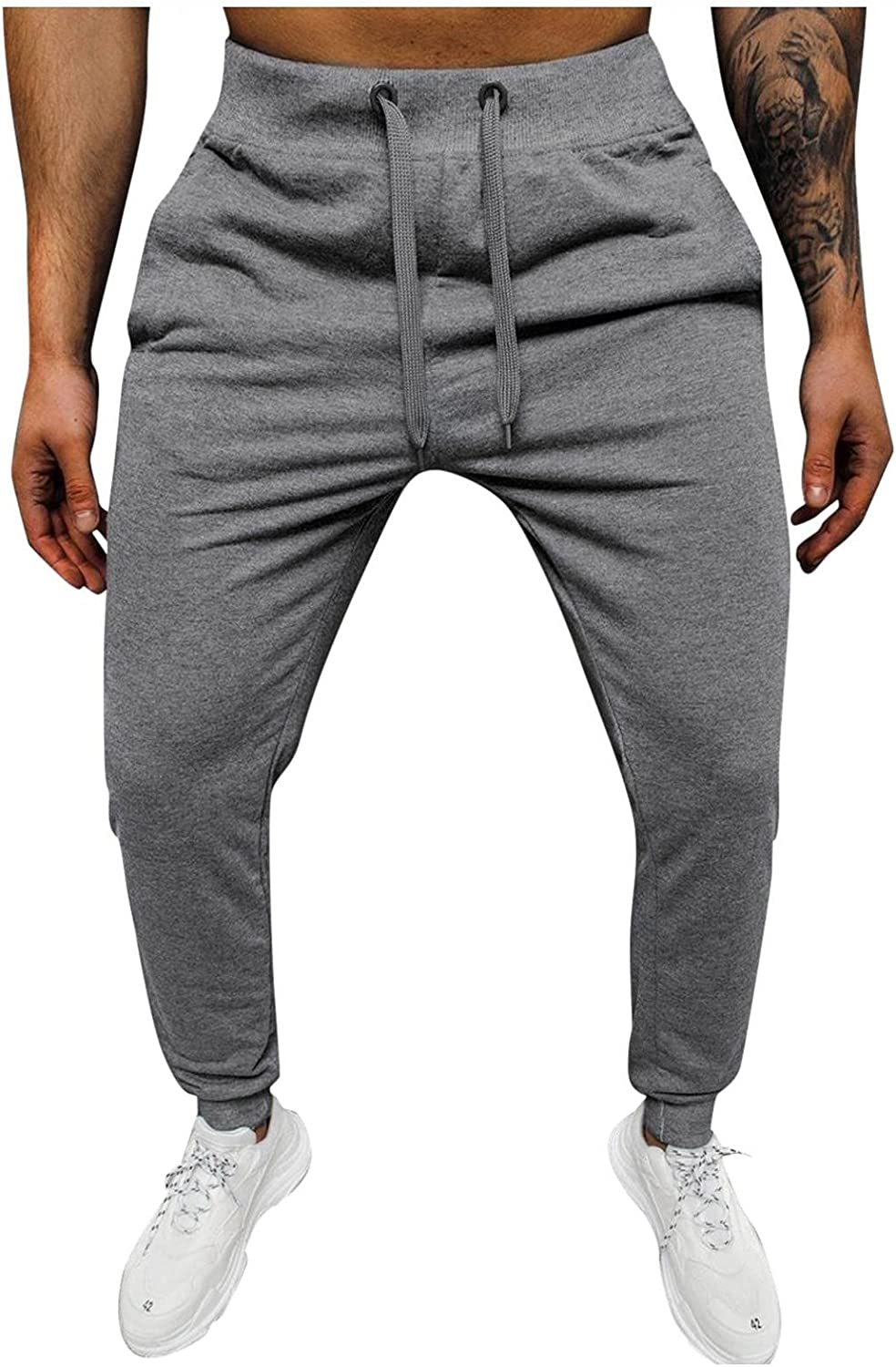 aihihe Mens Sweatpants Joggers with Pockets and Elastic Bottom Running Sweatpants Pants Workout Sports Jogger Lounge