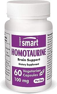 Supersmart - Nutrizione cerebrale - Homotaurine - Rallenta il declino delle funzioni cerebrali e cognitive. 50 mg, 60 caps...