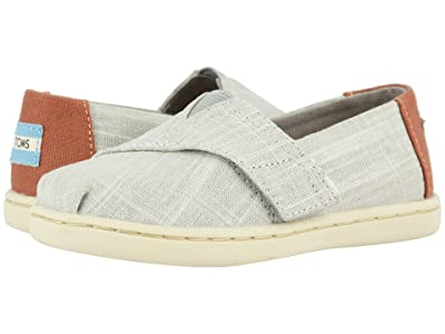 TOMS Kids Alpargata (Toddler/Little Kid) (Drizzle Grey Crosshatch Linen) Boy