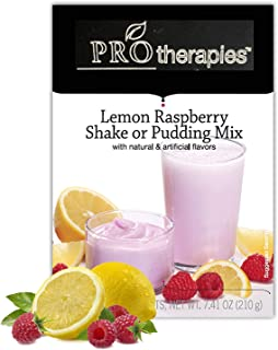 High Protein Pudding Mix - Lemon Raspberry Low-Carb Instant Diet Pudding Mix, Low Calorie Weight Loss Shake/Pudding, 7 Count