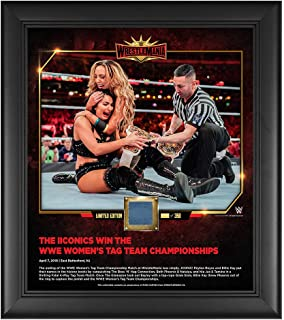 WWE The IIconics Wrestlemania 35 15 x 17 Framed Plaque w/Ring Canvas