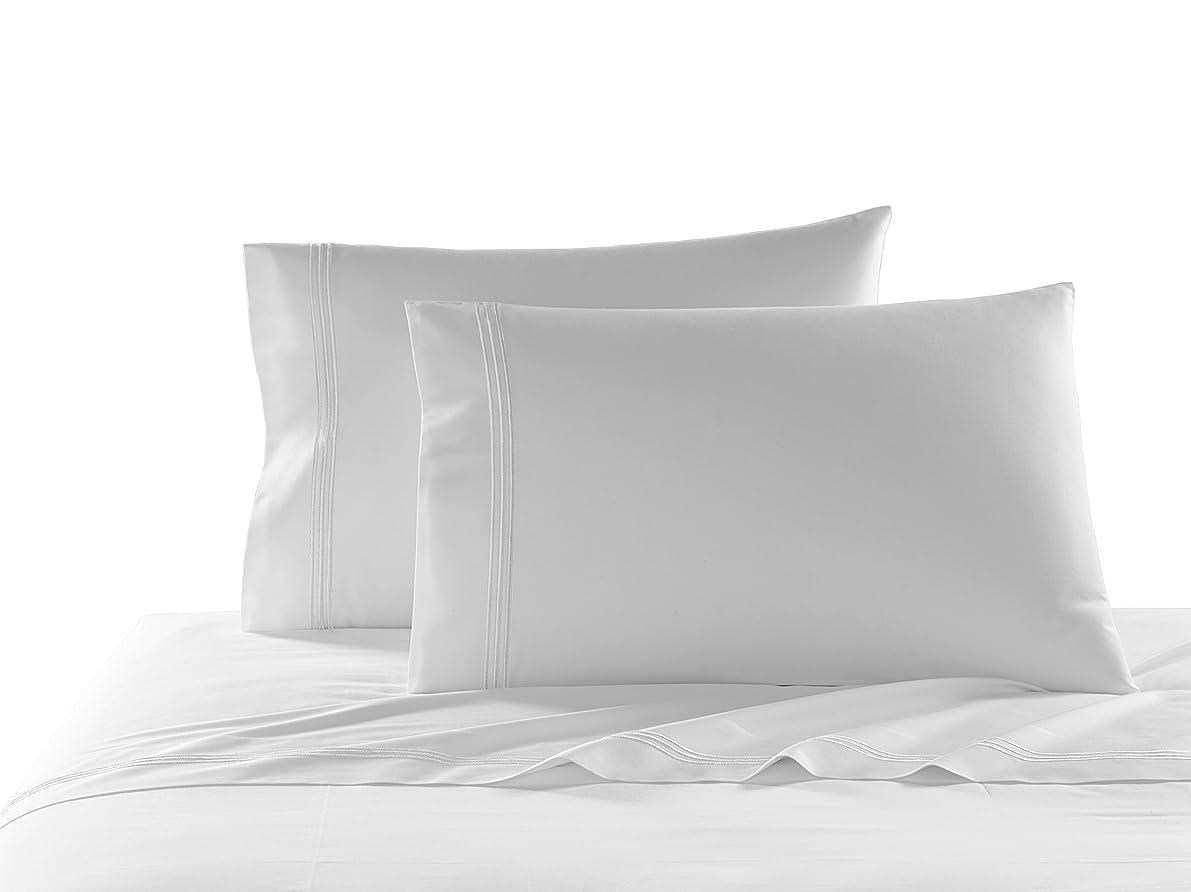 Kassatex Strada Bedding Collection Queen Pillowcase Set, White