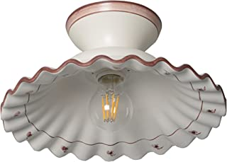 VANNI LAMPADARI- Lampada soffitto e parete in Ceramica Decorata a Mano Disponibile in 5 Colori