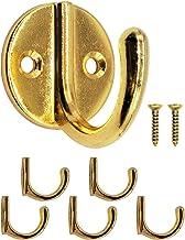 FUXXER® - Garderobehaken, handdoekhaken, kledinghaken, ijzeren haken, wandhaken, klassiek design, rond, set van 5, messin...