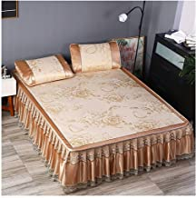 Summer Cooling Sleeping Mat, Ice Silk Air Conditioning Mat Summer Cooling Mat with Pillowcase 3 Piece Set Machine Washable