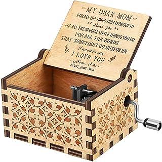 Sponsored Ad - RUYE Music Box Wooden Laser Engraved Vintage Musical Box Birthday Christmas - U R My Sunshine - Son to mom
