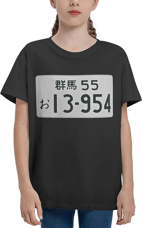 Jarbruan Unisex Kid Manga Anime Boy Girls Tee Short Sleeve Cotton Cartoon T-Shirts for Child