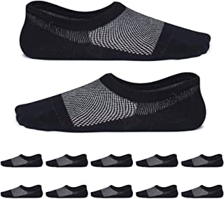 YouShow, calcetines hombre mujer invisibles 10 Pares Anti-olor antideslizantesdeportivos calcetines cortos