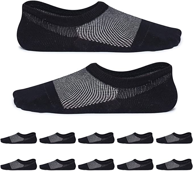 256 opinioni per YouShow Uomo Donna calzini corti con cotone 10 Paia invisibili calze antiscivolo